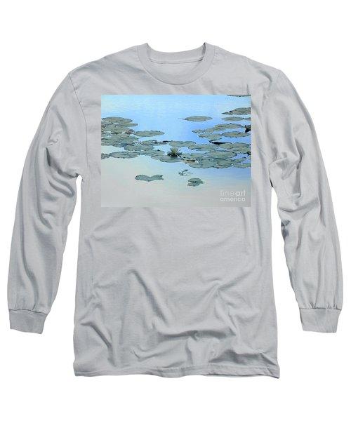 Lily Pond Long Sleeve T-Shirt by Daun Soden-Greene