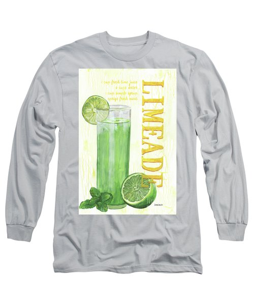 Long Sleeve T-Shirt featuring the painting Limeade by Debbie DeWitt