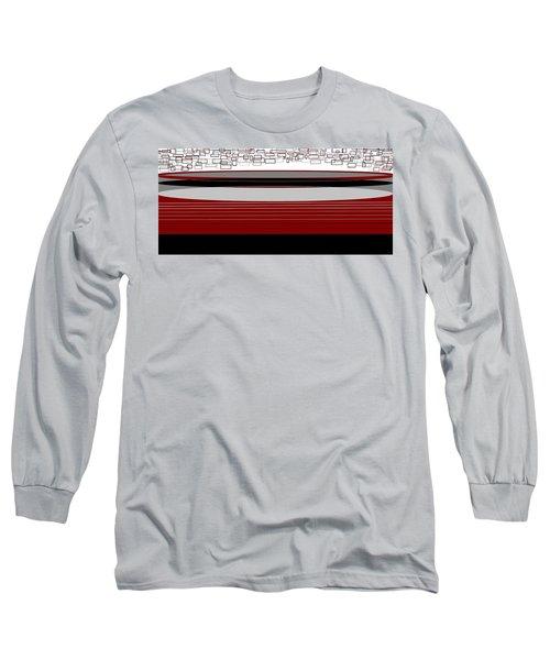 Lines 3 Long Sleeve T-Shirt by Linda Velasquez