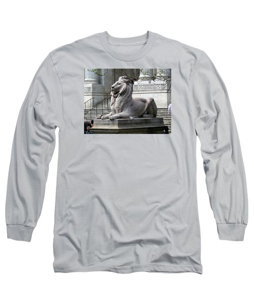 Long Sleeve T-Shirt featuring the photograph Lion Guards Literature by Helen Haw