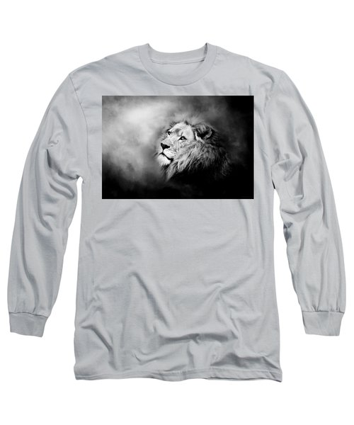 Lion - Pride Of Africa II - Tribute To Cecil In Black And White Long Sleeve T-Shirt