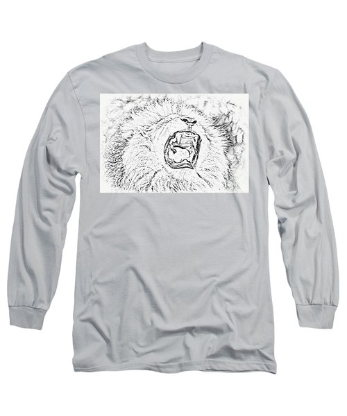 Lion Roar Drawing Long Sleeve T-Shirt