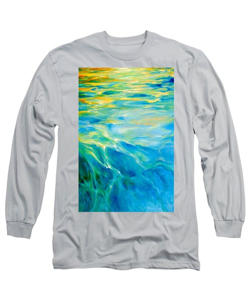 Liquid Gold Long Sleeve T-Shirt by Dina Dargo