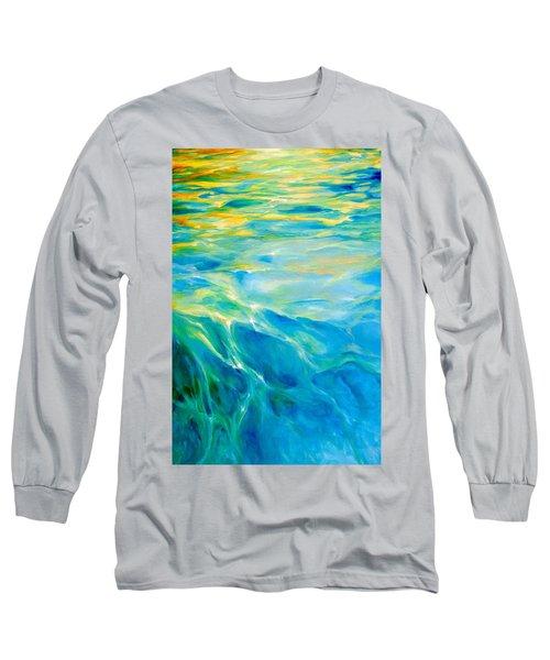 Liquid Gold Long Sleeve T-Shirt by Dina Dargo