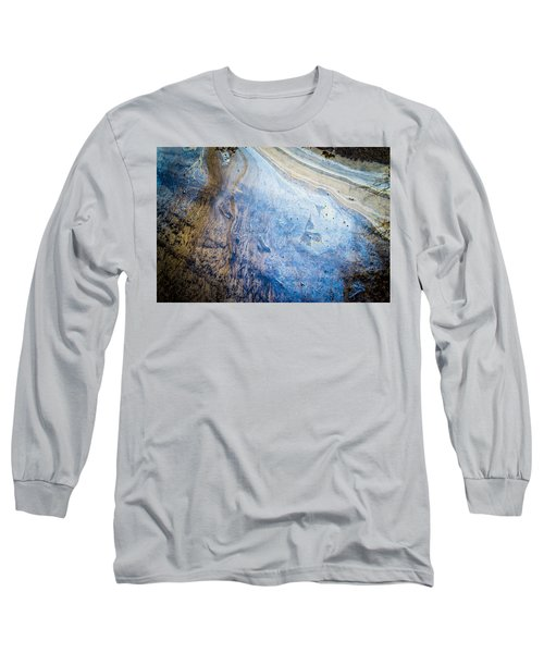 Liquid Oil On Water With Marble Wash Effects Long Sleeve T-Shirt