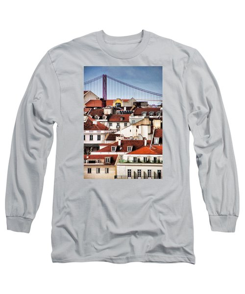 Long Sleeve T-Shirt featuring the photograph Lisbon Rooftops by Dennis Cox WorldViews