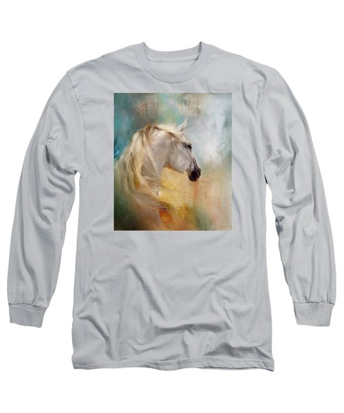 Long Sleeve T-Shirt featuring the digital art Listen To The Wind- Harley by Dorota Kudyba