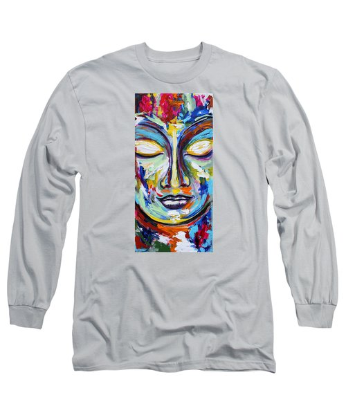 Little Buddha Long Sleeve T-Shirt by Theresa Marie Johnson