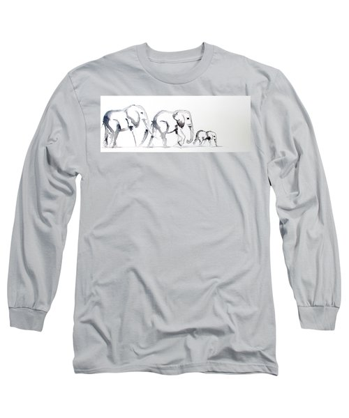 Little Elephant Family Long Sleeve T-Shirt