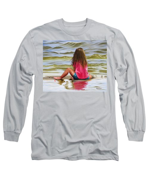 Little Girl In The Sand Long Sleeve T-Shirt