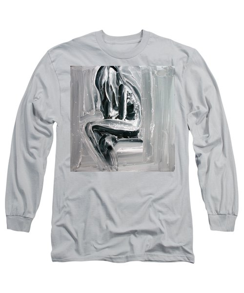 Long Sleeve T-Shirt featuring the painting Little Mermaid by Jarmo Korhonen aka Jarko