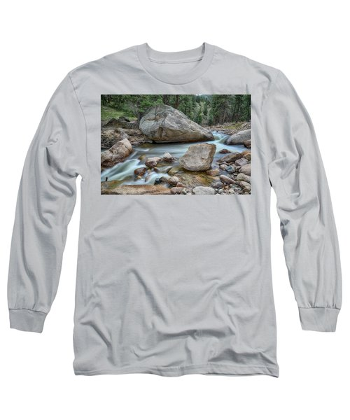 Long Sleeve T-Shirt featuring the photograph Little Pine Tree Stream View by James BO Insogna