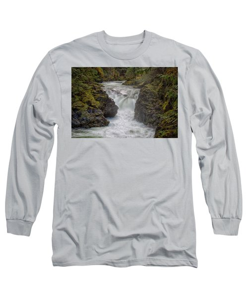 Little Qualicum Lower Falls Long Sleeve T-Shirt by Randy Hall