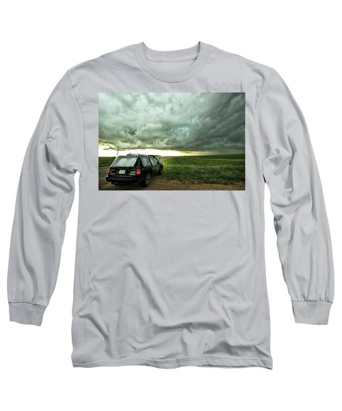 Living Saskatchewan Sky Long Sleeve T-Shirt by Ryan Crouse