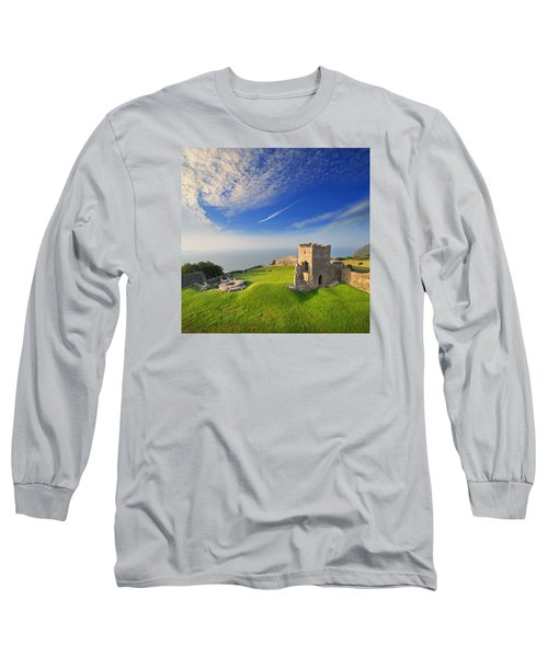 Llansteffan Castle 2 Long Sleeve T-Shirt
