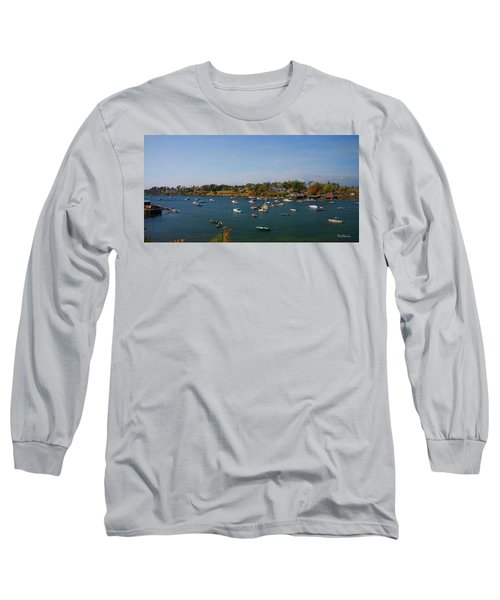 Lobster Boats On The Coast Of Maine Long Sleeve T-Shirt