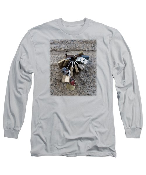 Locked Long Sleeve T-Shirt by Sinder Singh