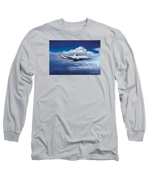 Willie Victor, Lockheed Ec-121k Warning Star In Flight Long Sleeve T-Shirt