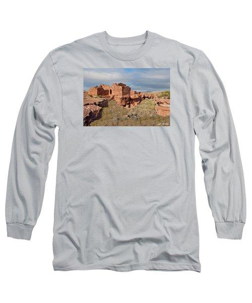 Lomaki Pueblo Ruins Long Sleeve T-Shirt