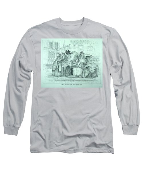 London Coffee Stall Long Sleeve T-Shirt