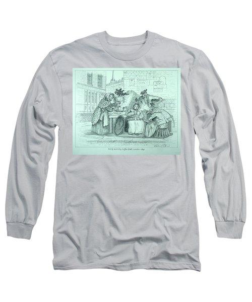 London Coffee Stall Long Sleeve T-Shirt