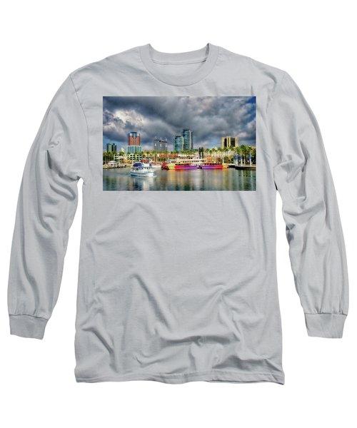 Long Beach Shoreline Marina Long Sleeve T-Shirt by Joseph Hollingsworth