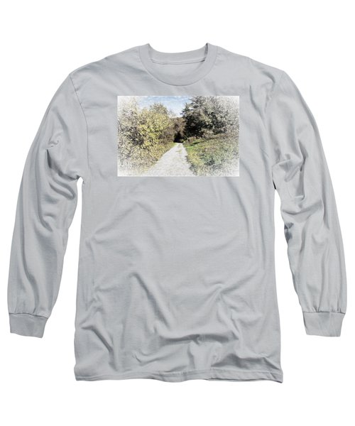 Long Trail Long Sleeve T-Shirt by Rena Trepanier
