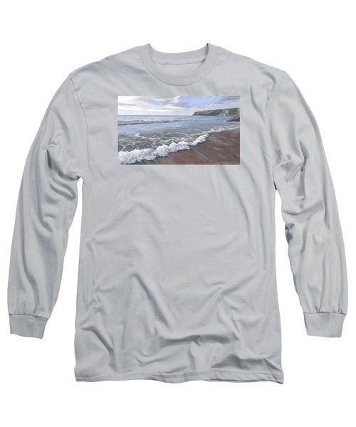 Long Waves At Trebarwith Long Sleeve T-Shirt