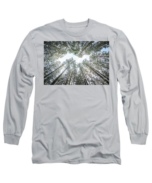 Long Sleeve T-Shirt featuring the photograph Looking Up In The Forest by Hannes Cmarits