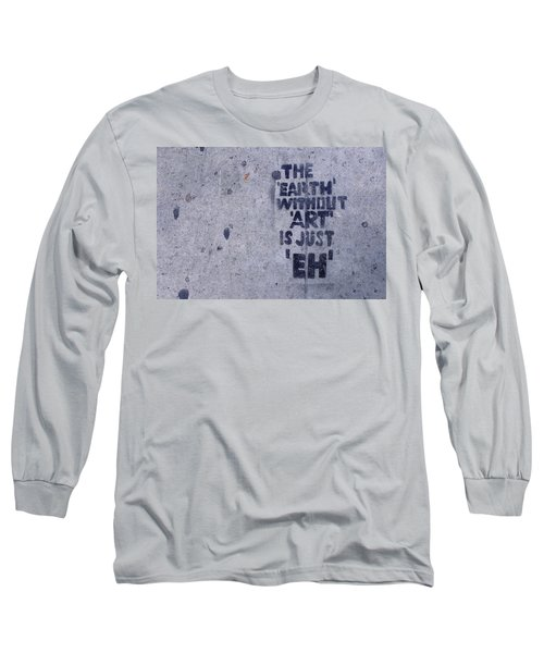 Long Sleeve T-Shirt featuring the photograph Los Angeles Sidewalk Art by Ram Vasudev