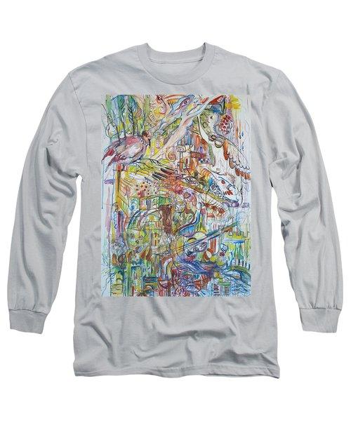 Love And Music Long Sleeve T-Shirt by Rita Fetisov