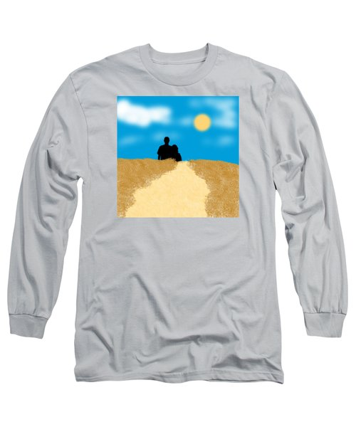 Love Birds Long Sleeve T-Shirt by Karen Nicholson