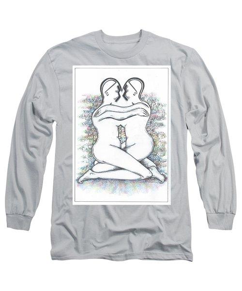 Friendly Hug On Colour Long Sleeve T-Shirt