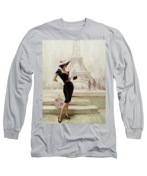 Long Sleeve T-Shirt featuring the painting Love, From Paris by Steve Henderson