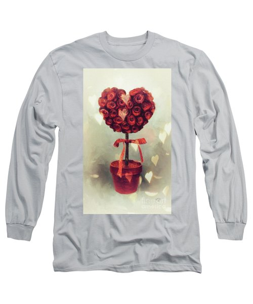 Long Sleeve T-Shirt featuring the digital art Love Is In The Air by Lois Bryan