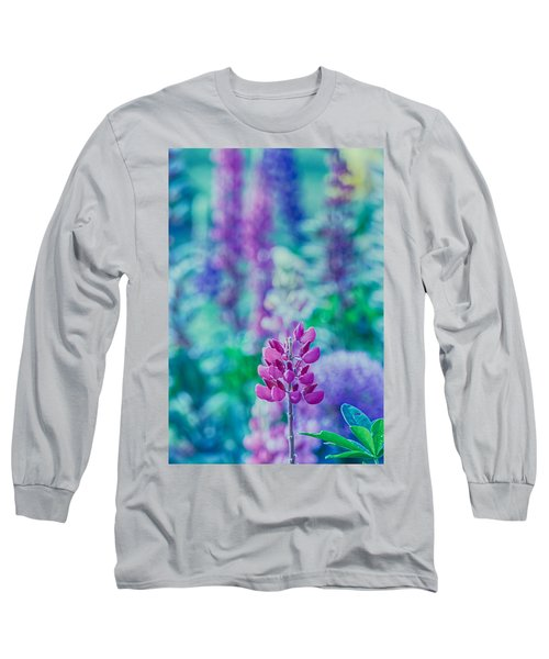 Lovely Lupine Long Sleeve T-Shirt by Bonnie Bruno