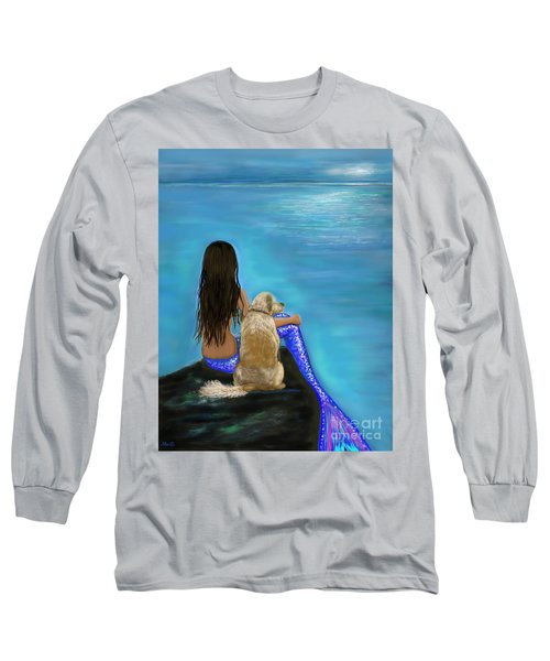 Long Sleeve T-Shirt featuring the painting Loyal Loving Buddy by Leslie Allen