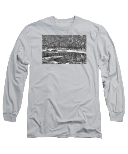 Loyalhanna Creek Bw - Wat0097 Long Sleeve T-Shirt