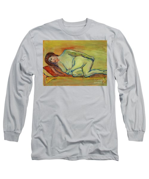 Long Sleeve T-Shirt featuring the painting Lucien Who? by Paul McKey