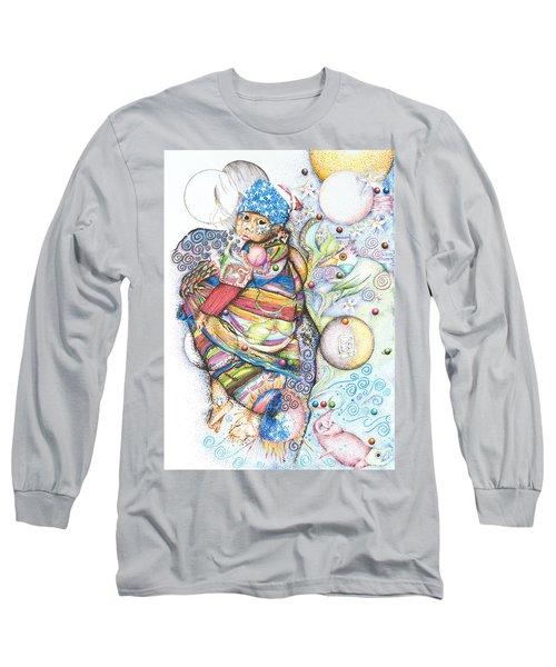 Lunas Y Estrellas Perdidas- Sombra De Arreguin Long Sleeve T-Shirt