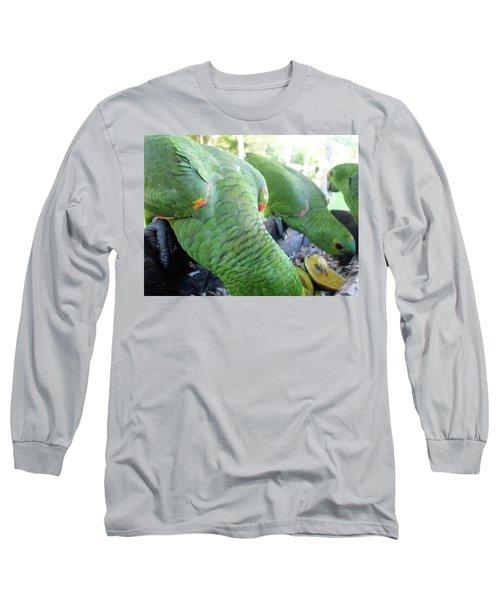 Long Sleeve T-Shirt featuring the photograph Lunchtime by Beto Machado