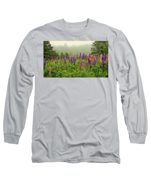 Lupins In The Mist Long Sleeve T-Shirt