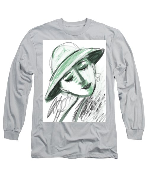 Long Sleeve T-Shirt featuring the digital art Lydia by Elaine Lanoue