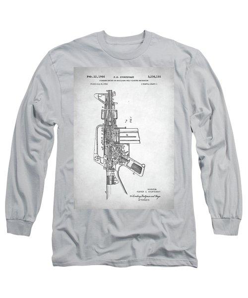Long Sleeve T-Shirt featuring the digital art M-16 Rifle Patent by Taylan Apukovska