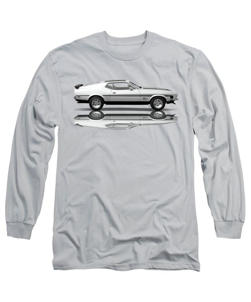 Mach 1 Mustang Reflections In Black And White Long Sleeve T-Shirt
