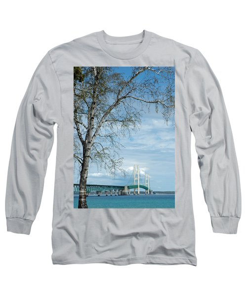 Mackinac Bridge Birch Long Sleeve T-Shirt