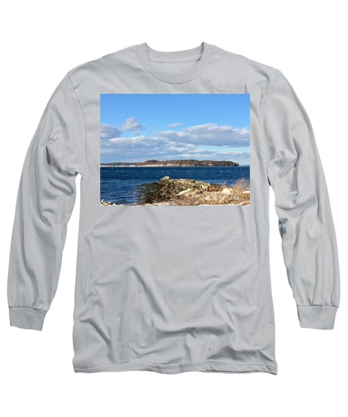 Mackworth Island Falmouth Maine Long Sleeve T-Shirt