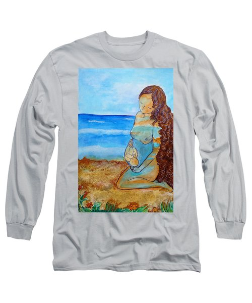 Long Sleeve T-Shirt featuring the painting Made Of Water by Gioia Albano