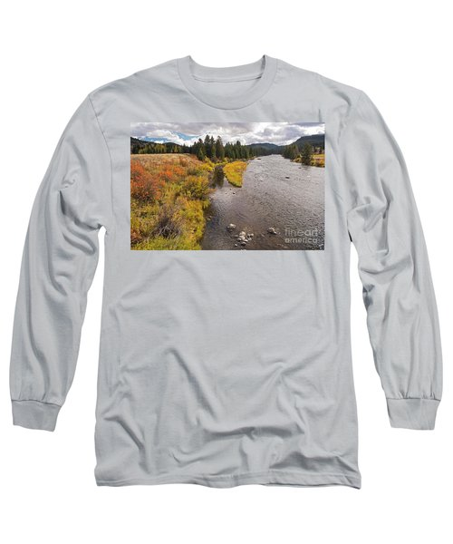 Madison River Long Sleeve T-Shirt by Cindy Murphy - NightVisions