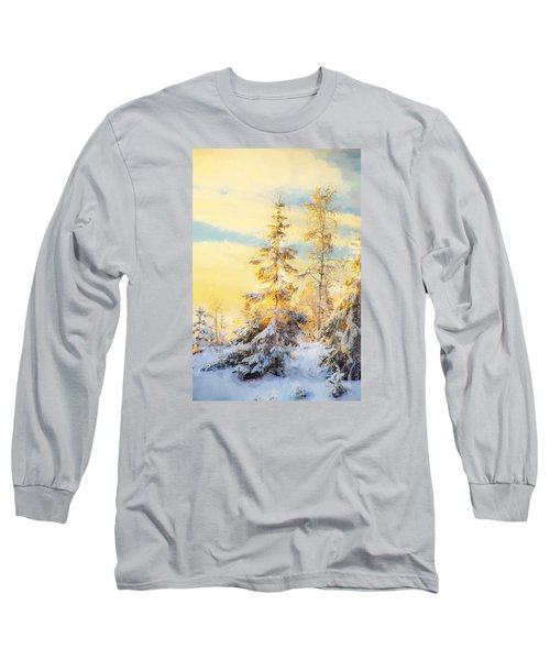 Long Sleeve T-Shirt featuring the photograph Magical Winter Landscape by Rose-Maries Pictures